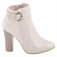 Botine de dama cu bareta 92353BEJ-PT-P - Reducere 50% - Zibra Peeps, Peep Toe, Shoes, Fashion, Lady, Moda, Zapatos, Shoes Outlet, Fashion Styles