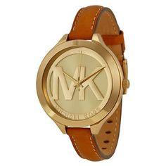 de94323da186 Michael Kors Slim Runway Tan Leather Strap Ladies Watch MK2326  98.99   195.00 (24 Available)