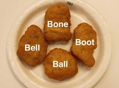 Fun fact, here are the (only) four shapes of Chicken McNuggets, according to Barbara J. Booth, director of sensory science at McDonald's USA: Ball, Bone, Bell, & Boot
