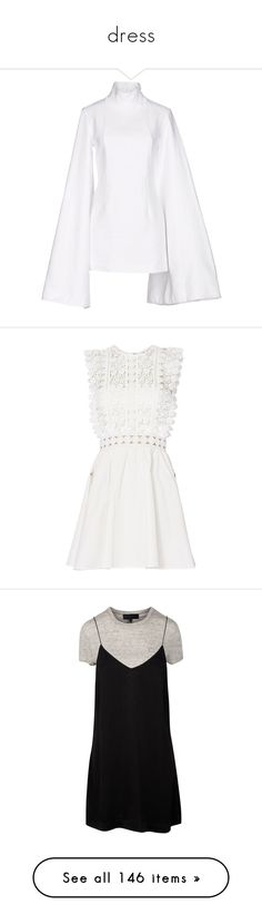 """""""dress"""" by rexanne-official ❤ liked on Polyvore featuring dresses, white, long-sleeve mini dress, mini dress, white turtleneck dress, long sleeve dress, long sleeve turtleneck dress, white dresses, floral fit and flare dress and white mini dress"""