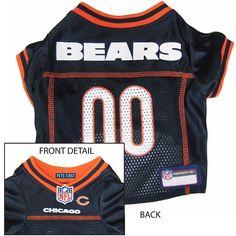 Chicago BEARS  NFL dog Jersey in color Black
