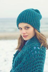 dámská ručně pletená čepice z příze Softy