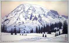 Mt. Rainier in Winter, 1972 - Toshi Yoshida