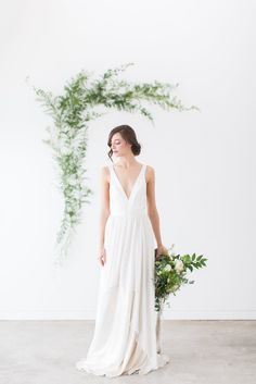 Brianna - Truvelle A simple, modern wedding gown for the minimalist bride.
