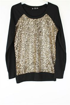 Shine Bright Like a Diamond Sweater | All Over Sequin Sparkly Sweater | Modest Clothing