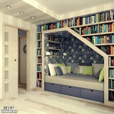 Book Nook -- love this for the 5th bedroom / music room / library
