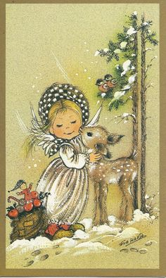 Vintage Christmas greeting card.
