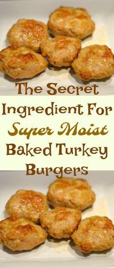 The Secret Ingredient For Super Moist Baked Turkey Burgers