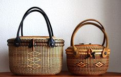 days of Nantucket Basket~ Basket Braid, Basket Weaving, Old Baskets, Wicker Baskets, Sisal, Traditional Baskets, Nantucket Baskets, Black Basket, Luggage Backpack