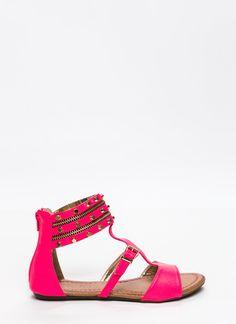 Zip 'N Stud Sandals