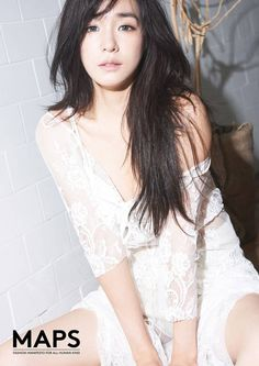 Tiffany lures with an irresistibly intense gaze in 'MAPS' pictorial   allkpop.com