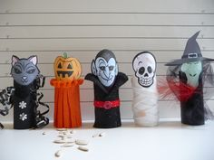 The Usual Suspects - Halloween criminals made with toilet paper rolls