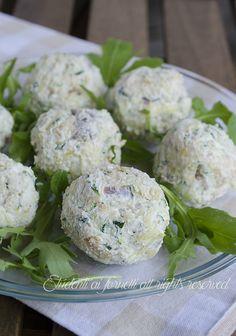 polpette fredde di zucchine e prosciutto crudo ricetta secondo freddo estivo senza cottura