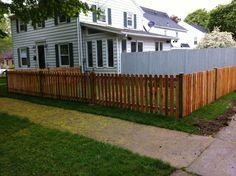 dog ear fence