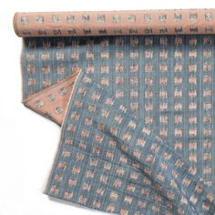 Gridded Ikat Fabric in Blue Pink – Rebecca Atwood Designs
