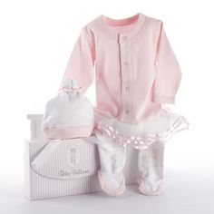 Unique Baby Girl Clothes Baby Aspen Big Dreamzzz Baby Ballerina Layette Set with Gift Box Cute & unique baby girl clothes for special occasi. Baby Set, Baby Gift Sets, Baby Baby, Halloween Bebes, Baby Halloween Costumes, Baby Costumes, Newborn Halloween, Newborn Onesies, Baby Layette