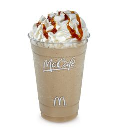 Copycat Recipes: McDonald's Caramel Frappe Easy and fast.lot cheaper than McDonald's! Frappe Recipe Mcdonalds, Mcdonalds Caramel Frappe, Caramel Frappe Recipe, Mcdonalds Recipes, Caramel Frappuccino, Caramel Latte, Mcdonald's Frappe Recipe, Frappuccino Recipe With Instant Coffee, Frozen Frappuccino Recipe