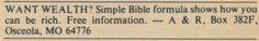 MAIL ORDER APOCRYPHA