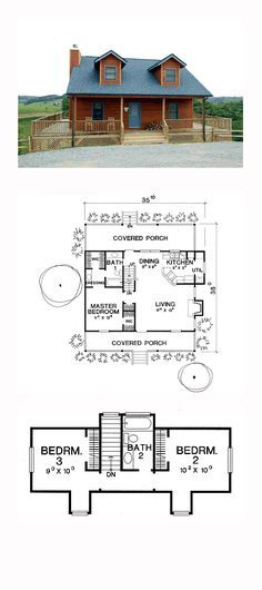 CapeCod Style COOL House Plan ID: chp-17036 | Total Living Area: 1157 sq. ft., 3 bedrooms and 2 bathrooms. #capecodhome