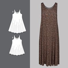 Kjole Easy, Pattern, Dresses, Style, Fashion, La Mode, Sewing Patterns, Women's, Hand Crafts