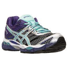 Women's Asics GEL-Cumulus 16 Running Shoes  Finish Line   Onyx/Beach Glass/Purple