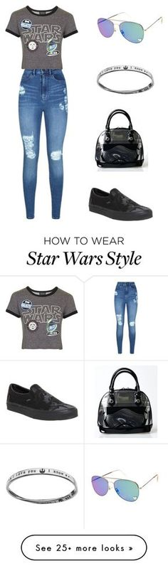 """""""May The Force Be With You"""" by adriastar on Polyvore featuring Lipsy, Topshop and Vans"""
