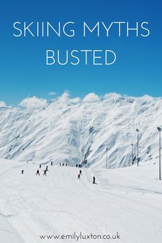 Skiing Myths Busted - Advice for first time skiers and why you should give a ski trip a go! Summer Vacation Spots, Ski Vacation, Vacation Ideas, Winter Hiking, Winter Travel, Winter Fun, Winter Holidays, Fun Winter Activities, Outdoor Activities