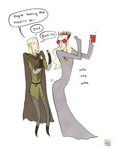 """party thranduil got his hands on the ten-hour version of """"they're taking the hobbits to isengard."""""""