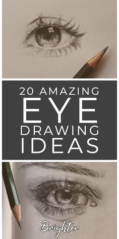 20 illustrated eye drawing ideas and inspiration. Learn how you can draw eyes step by step. This tutorial is perfect for all art enthusiasts. Amazing Drawings, Realistic Drawings, Beautiful Drawings, Eye Drawing Tutorials, Drawing Techniques, Art Tutorials, Art Sketches, Art Drawings, Color Pencil Art