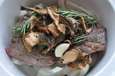 savory chuck roast with rosemary, onions, & dried mushrooms | Eat the cookie!