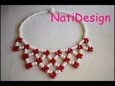 YouTube Diy Jewelry Necklace, Seed Bead Necklace, Bead Jewellery, Jewelry Crafts, Beaded Necklace, Beaded Bracelets, Diy Lace Ribbon Flowers, Beaded Jewelry Designs, Beaded Anklets