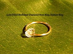 Holiday Gift  Herkimer Diamond Gold Filled by RadheHandmadeJewelry