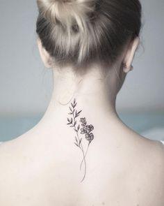 Front Neck Tattoo, Flower Neck Tattoo, Small Neck Tattoos, Girl Neck Tattoos, Neck Tattoos Women, Neck Tattoo For Guys, Back Tattoos, Tattoos For Guys, Tattoo Neck