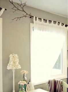 RusticBranch Curtain Rod Tab Curtains Only Bright Purple Not White