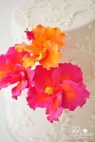 Made to Order Clay Hibiscus Cake Flowers as seen on Hostess Hibiscus Cake, Hibiscus Flowers, Sugar Flowers, Cake Flowers, Orange Flowers, Wedding Wishes, Friend Wedding, Destination Wedding, Wedding Planning