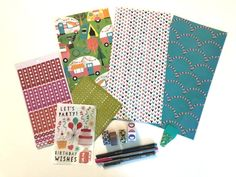 Traveler's Notebook Insert Subscription Box - 3 each month with planner stickers on rhodia dot grid paper Travel Journals, Travelers Notebook, Planner Stickers, Planners, Grid, Dots, Bullet Journal, Learning, Paper
