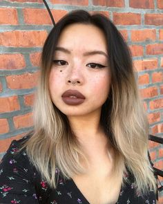"""Anna Trinidad💋 on Instagram: """"july is going to be a mentally tuff month. but adding some liner and a lippy reminds me that I can still be THAT BITCH.…"""" Brown Lipstick, Makeup Inspo, Trinidad, I Can, Anna, Beauty, Instagram, Beauty Illustration"""
