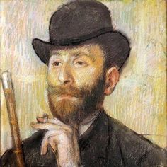 Pastel Self Portrait by Edgar Degas - Painting is easy when you don't know how, but very difficult when you do. ~Edgar Degas (1834 – 1917)