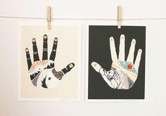 Native Bear hand prints