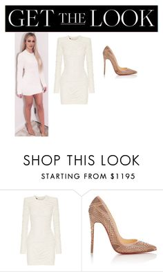 """""""Mini dress"""" by mckenziejenner ❤ liked on Polyvore featuring Balmain and Christian Louboutin"""