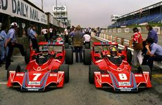 Carlos Reutemann e Carlos Pace / Brabham / Alfa Romeo British GP) Martini Racing, Alfa Romeo, Peugeot, Ricky Williams, Ferrari, British Grand Prix, Formula 1 Car, Ford, Sports Sedan