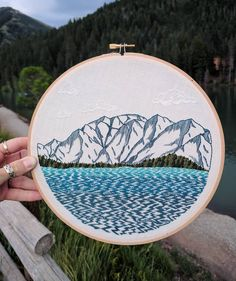 Lake Tahoe and Mt. Tallac. My lake and my mountain♥️♥️♥️ . . . . . #embroideryartist #embroideryinstaguild #embroidery #embroideryart #embroider #embroiderylove #embroideryhoop #hoopart #stitchart #internationalembroideryday #embroidered #internationalembroidery #crafts #handmade #needlework #handembroidery #embroideryworld #laketahoe #southlaketahoe #southtahoe #tahoesouth #tahoe #sierranevada #sierranevadas #mttallac #tallac #southshore #hiketahoe #tahoeart #mountainlove
