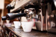 Espresso machine making coffee in pub, bar, restaurant Royalty Free Stock Photo Best Home Espresso Machine, Espresso Machine Reviews, Architecture Design, Starbucks Menu, How To Make Coffee, Making Coffee, Bistro, Branding, Coffee Type