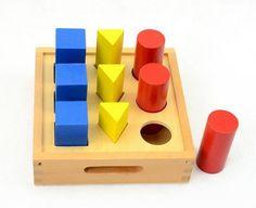 Frete grátis! Bebê Montessori brinquedos de madeira blocos montagem geométrica blocos bebê dom brinquedos educativos