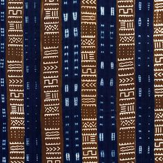Cocoa & Indigo Cloth  by Textiles of Africa--loving deep browns and dark blues together.