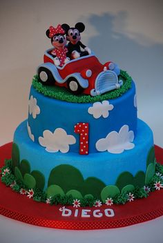 torta topolino minni- cake mickey mouse minnie by Alessandra Cake Designer, via Flickr