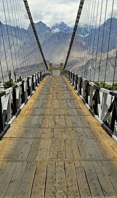Khaplu Sailing Bridge Over Shayok River, Gilgit Baltistan.