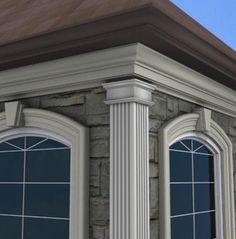 1000 images about exterior foam pilasters on pinterest - Exterior decorative foam molding ...