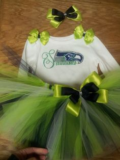 Seattle Seahawks tutu outfit NFL Superbowl by 22PrInCeSs on Etsy, $35.00
