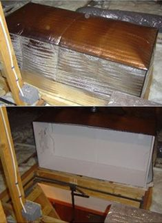 insulated attic door cover, new years diy resolutions. The payoff: depending on overall level of insulation, could recoup $125 to $150 from one month to one winter.
